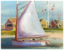 Catboat off Stone Horse Yacht Club