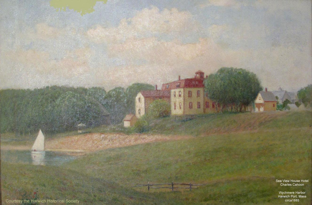 Sea View House Hotel owned by Rinaldo Eldridge painting by Charles Cahoon